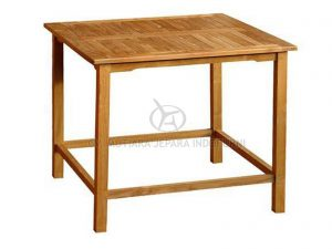 Square Outdoor Bar Table Teak Wood