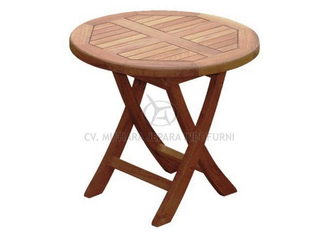 Round Folding Coffee Table Indonesia Furniture
