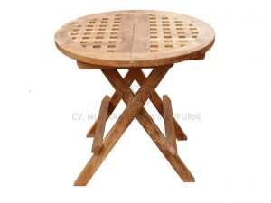 Outdoor Round Picnic Table with Hole indonesia furniture