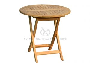 Round Folding Table; Indonesia Furniture
